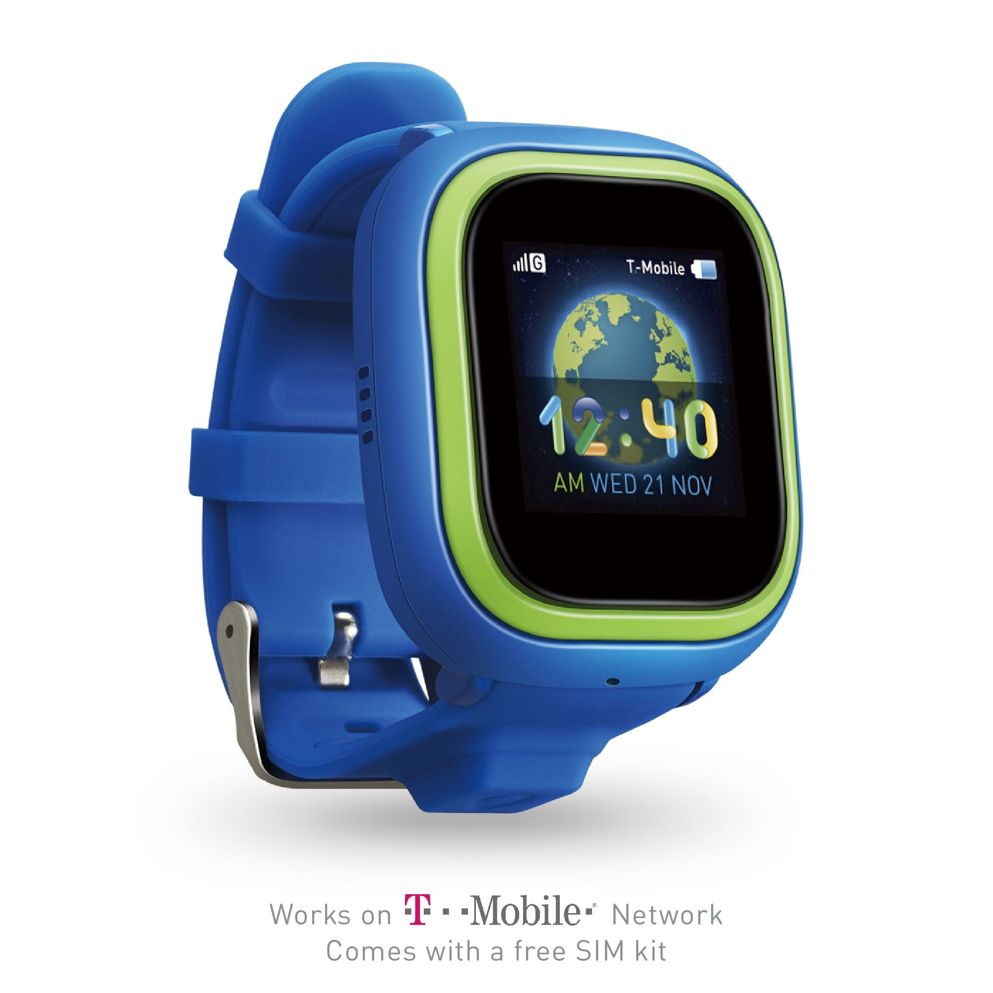 NEW TickTalk 2 Touch Screen Kids Smart Watch, GPS Phone watch, Anti Lost GPS tracker with New App, Better Positioning Chip, Things To Do Reminder, Phone/Messaging SIM CARD INCLUDED (Blue with Green)