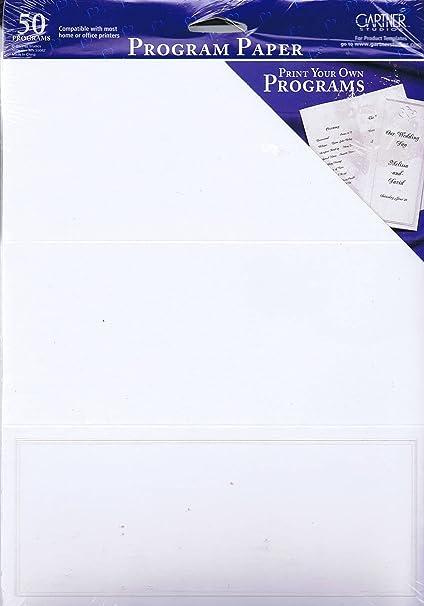 amazon com gartner studios program paper pearl white border 50