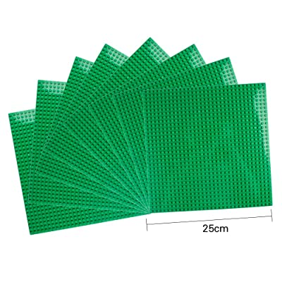 "LVHERO Classic Baseplates Building Plates for Building Bricks 100% Compatible with All Major Brands-Baseplate, 10"" x 10"", Pack of 8 (Green): Toys & Games"