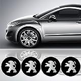 4 x 55 mm Durchmesser PEUGEOT Rad Mitte Kappen Aufkleber Self Adhesive Emblem Decals Billig