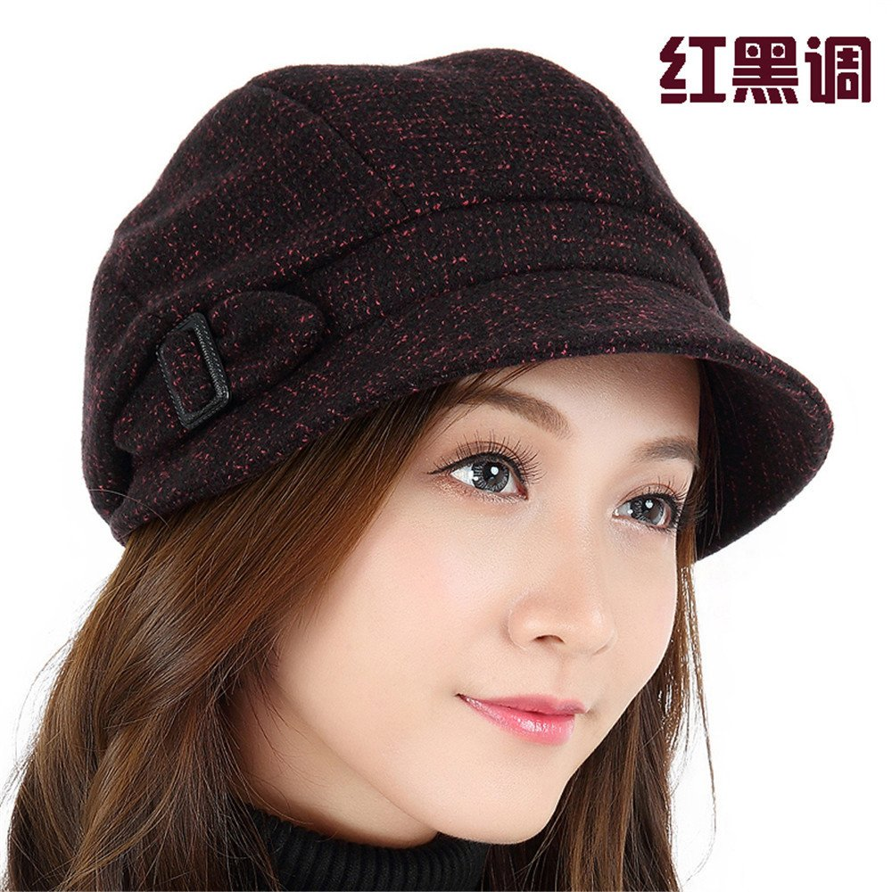 YXLMZ  Women s Winter Crochet Hat Knitted Beanie Warm Cap elegant leisure  Hat Beret autumn Warm Winter Hat Lady 555c9a48b17e
