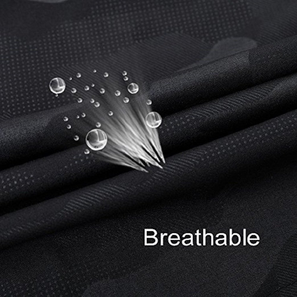 Mens Comfortable Breathable Gym Running Workout Training Shorts Marathon Shorts with Zipper Pockets No Liner