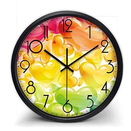 TXXM Relojes de pared Reloj de Pared Sala de Estar Dormitorio Creativo Moderno Minimalista de Dibujos