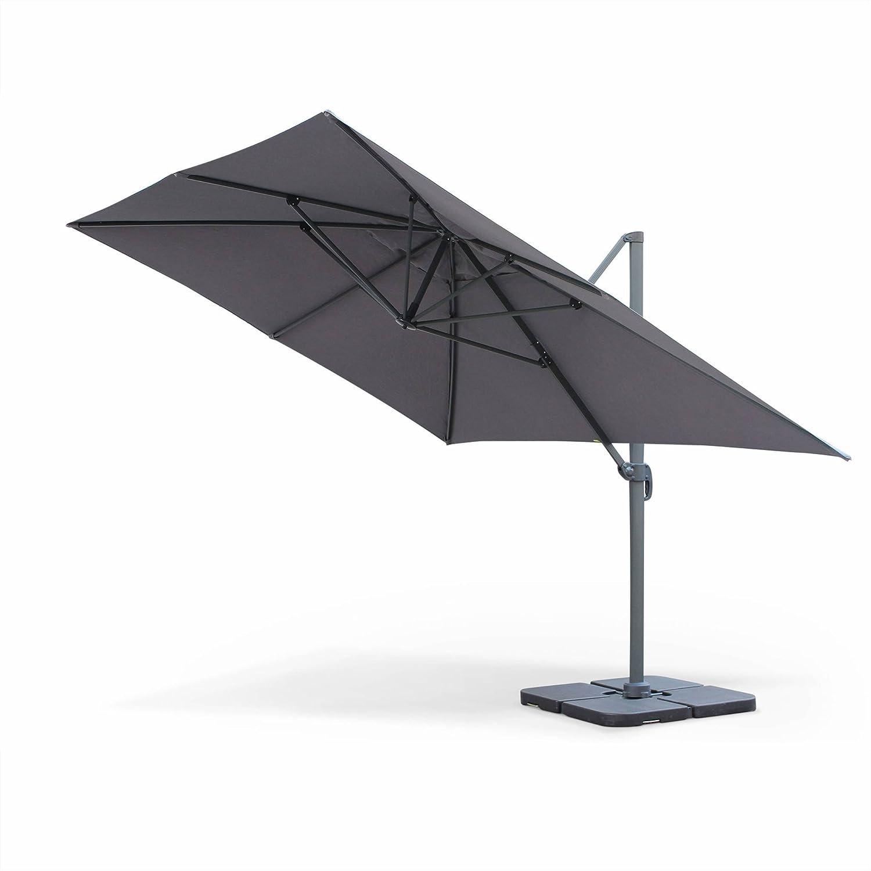 Alices Garden Parasol Déporté Rectangulaire 3 X 4 M Haut