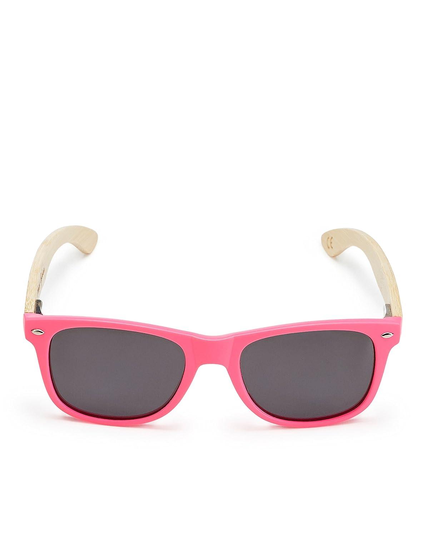 Sonnenbrille mit Holzbügel - Polarisierten Gläsern - Fancy Eyewear - Pink/Black EGIe1nM