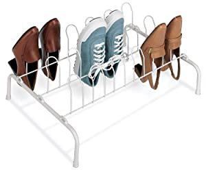 20. Whitmor Floor Shoe Rack-9 Pair