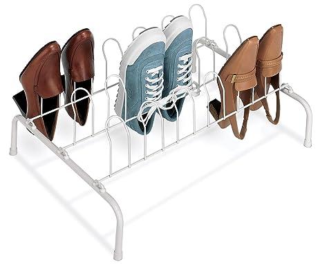 Delightful Whitmor Floor Shoe Rack 9 Pair