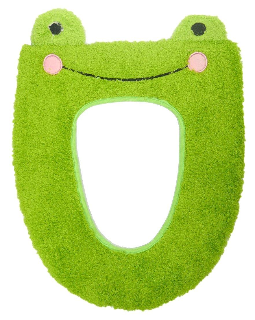 Hestio 5pcs Cute Cartoon Animal Toilet Seat Cushion Mat Bathroom Soft Warm Washable (frog)