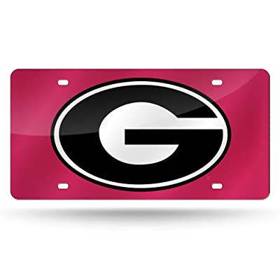 NCAA Rico Industries Laser Inlaid Metal License Plate Tag, Georgia Bulldogs: Sports & Outdoors