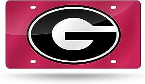 NCAA Rico Industries Laser Inlaid Metal License Plate Tag, Georgia Bulldogs
