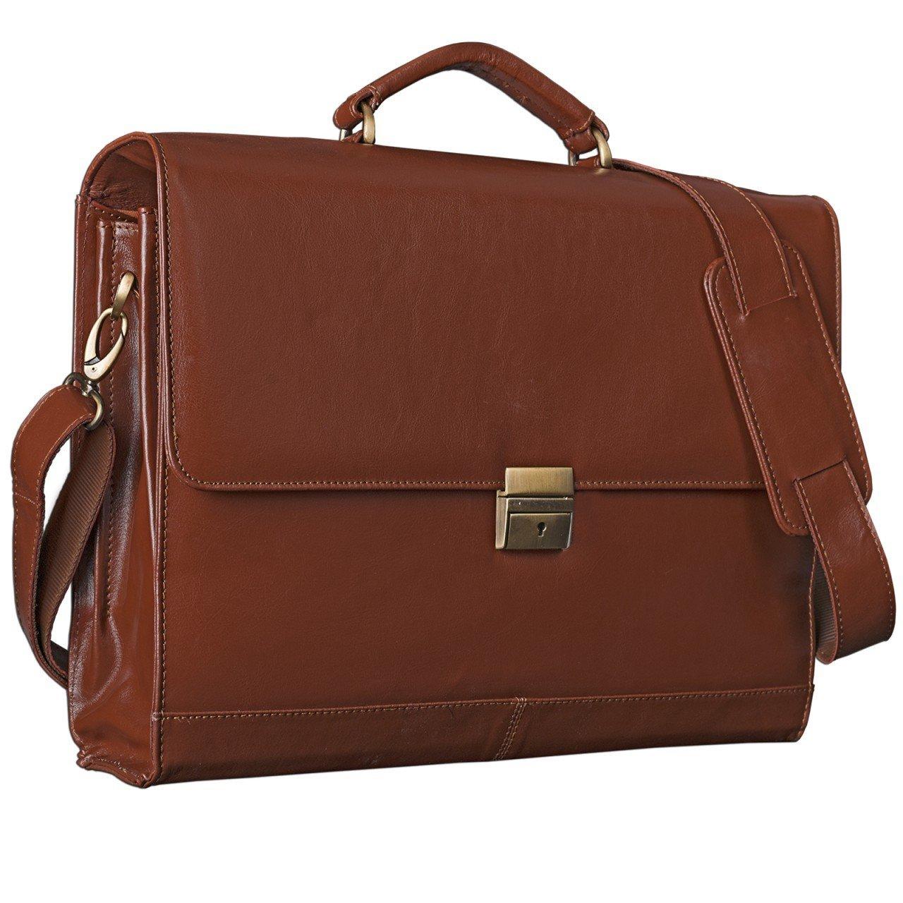 STILORD 'Philipp' Aktentasche aus echtem Leder in klassischem Vintage Design mit 15, 6 Zoll Laptopfach Dokumententasche Businesstasche Herren Damen