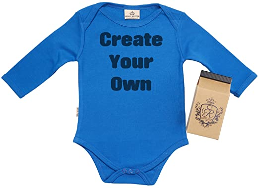 f7e408cdf SR - Gift Boxed PERSONALISED Create Your Own CUSTOM Baby Babygrow - Baby  Onesie - Baby Vest - Personalised Baby Clothing: Amazon.co.uk: Clothing
