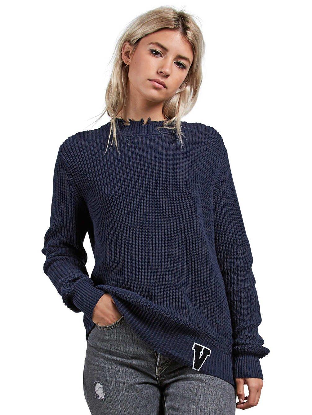 TALLA L. Volcom Snatch Sweater -Fall 2018- Sea Navy