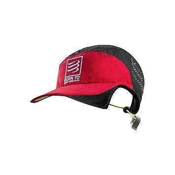 Gorra COMPRESSPORT Run Cap Swin Bike Run Negro-Rojo  Amazon.es ... 4adf0276919