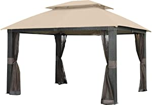 Garden Winds Replacement Canopy for The Revella Gazebo - Riplock 350 - Beige