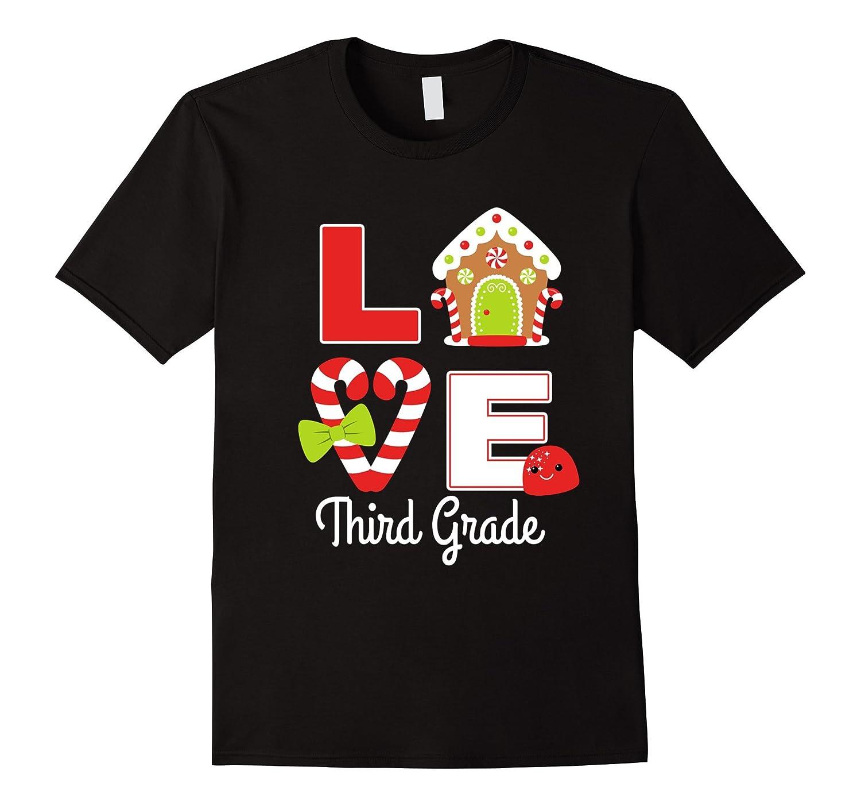 3rd Grade Teacher Christmas Cute Gift Shirt Girls Mom Team-FL