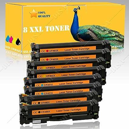 8 x Toner Compatible con HP CF400 X/cf400 a/201 x/201 A Black cian ...