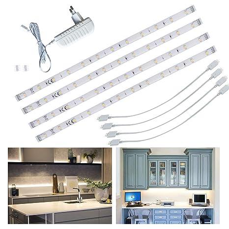 LED TV Retroilluminazione Striscia LED Sotto l\'armadio da Cucina/Plafoniere  per Armadi Spine Collegabili in Barre Luminose per Decorazioni, Cucina, ...