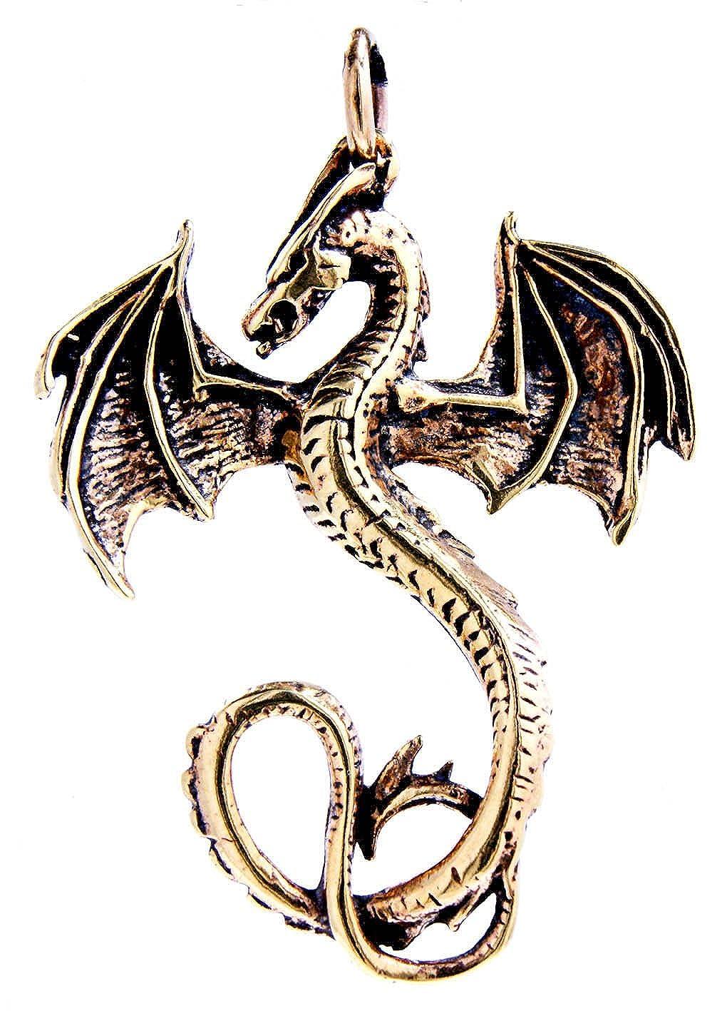 Groß er Drachen Anhä nger aus Bronze Nr. 11 Eastern Gems ABC-136