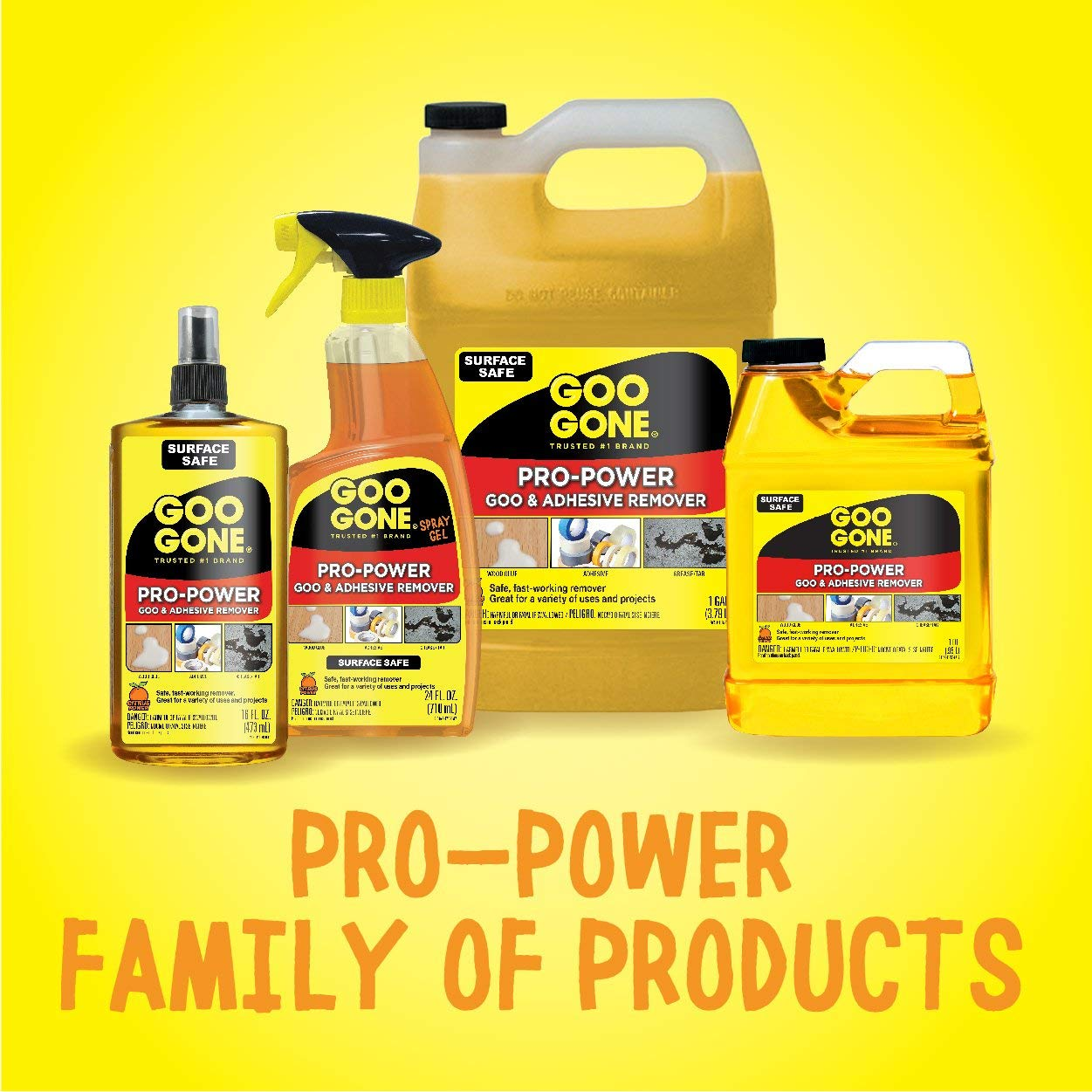 Goo Gone IUGYH Pro-Power Spray Gel - 24 Ounce - Surface Safe, Great Cleaner, No Harsh Odors, Removes Stickers, Can Be Used On Tools 2 Pack by Goo Gone (Image #6)