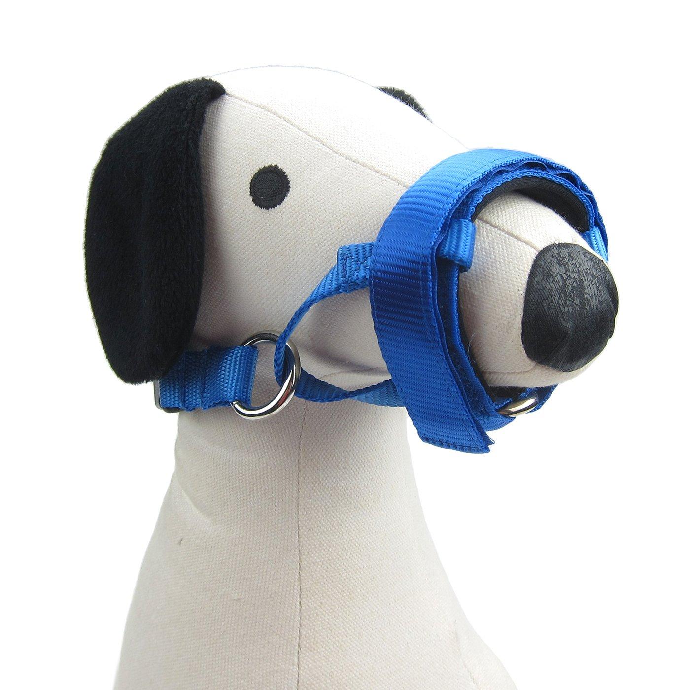 Alfie Pet by Petoga Couture - Oriel Adjustable Quick Fit Nylon Muzzle - Color: Blue, Size: XL