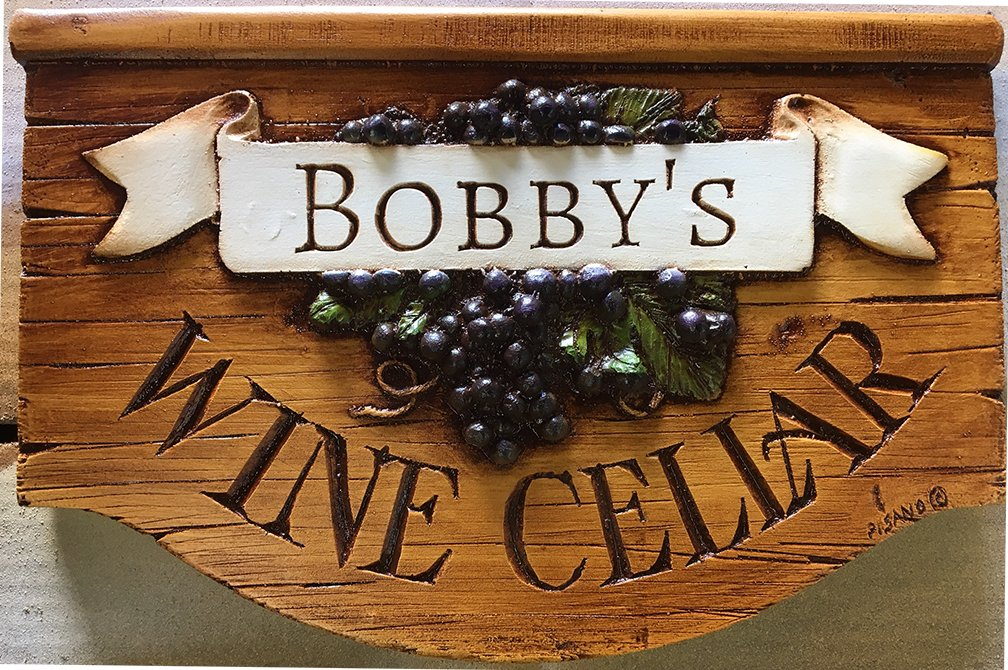 Piazza Pisano Wine Cellar Personalized Sign