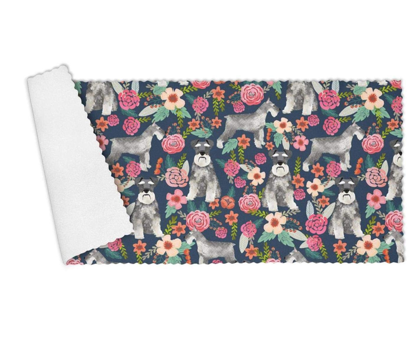 YUEch Kitchen Towels Set of 3 Schnauzer Dog and Vintage Florals Highly Absorbent Low Lint Multi-Purpose Dish Towels, Tea Towels, Bar Towels 12 x 27 Inch