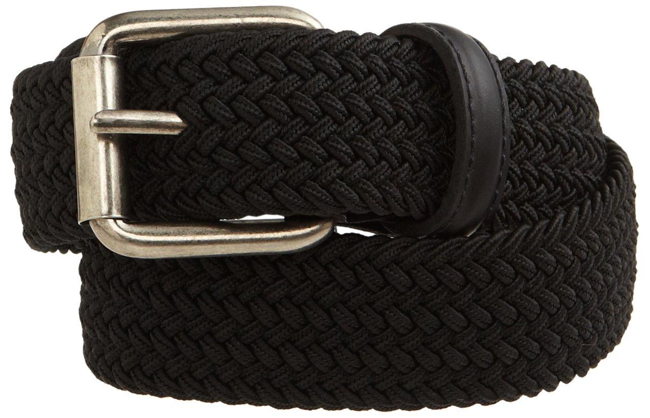 Levi's Big Boy's Braided Elastic Web Belt,Black,