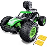 Gizmovine Remote Control Car with Camera, High Speed Racing Off-Road RC Cars with 2 Rechargeable Batteries, Waterproof RC Mon