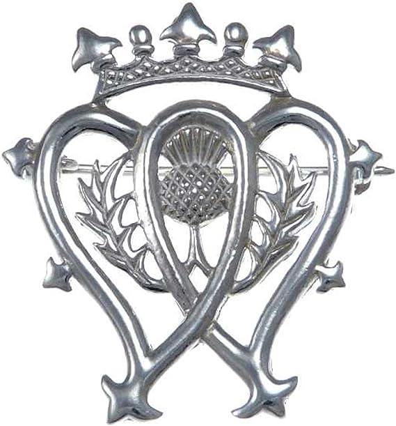 Scottish Pin Baird Clan Crest Luckenbooth Brooch Sterling Silver