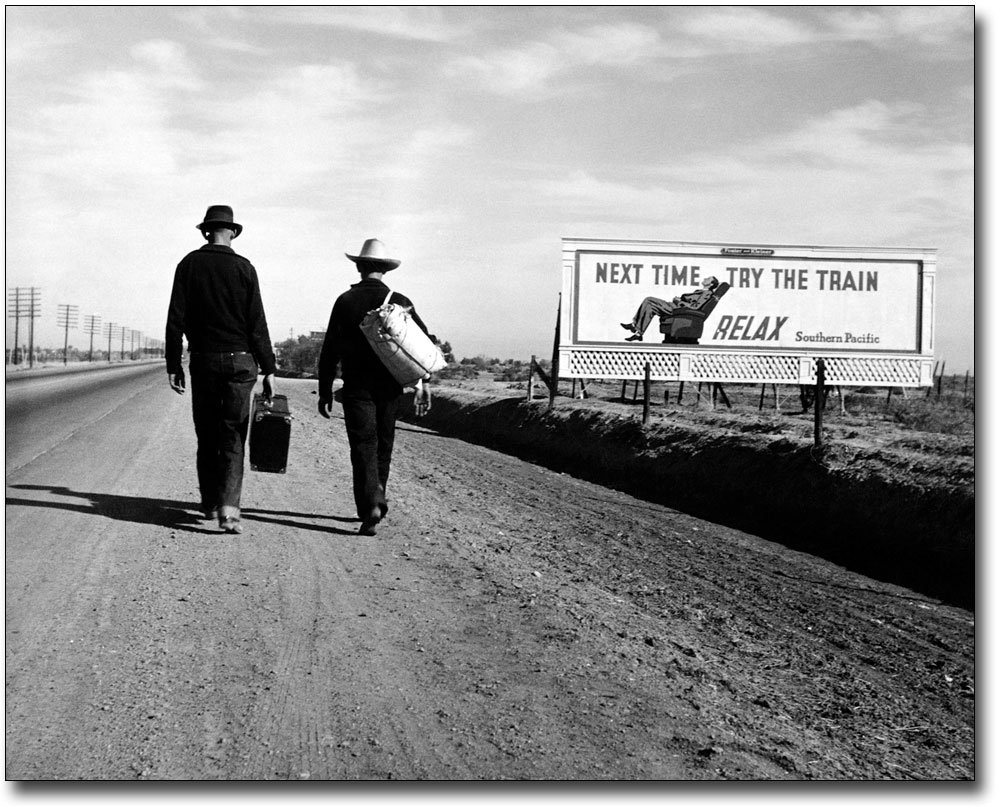Toward Los Angeles, Dorothea Lange FSA 11x14 Silver Halide Photo Print