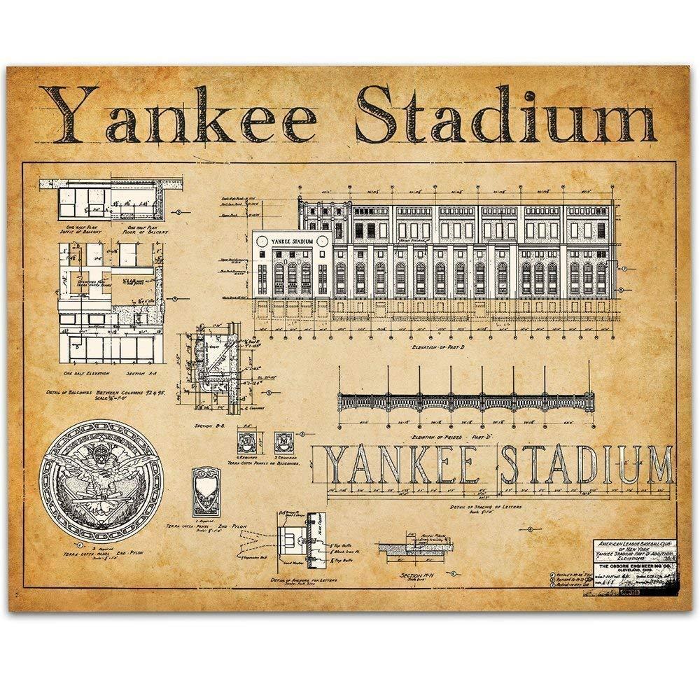 New York Yankees 11 x 14 Framed Pencil Drawing