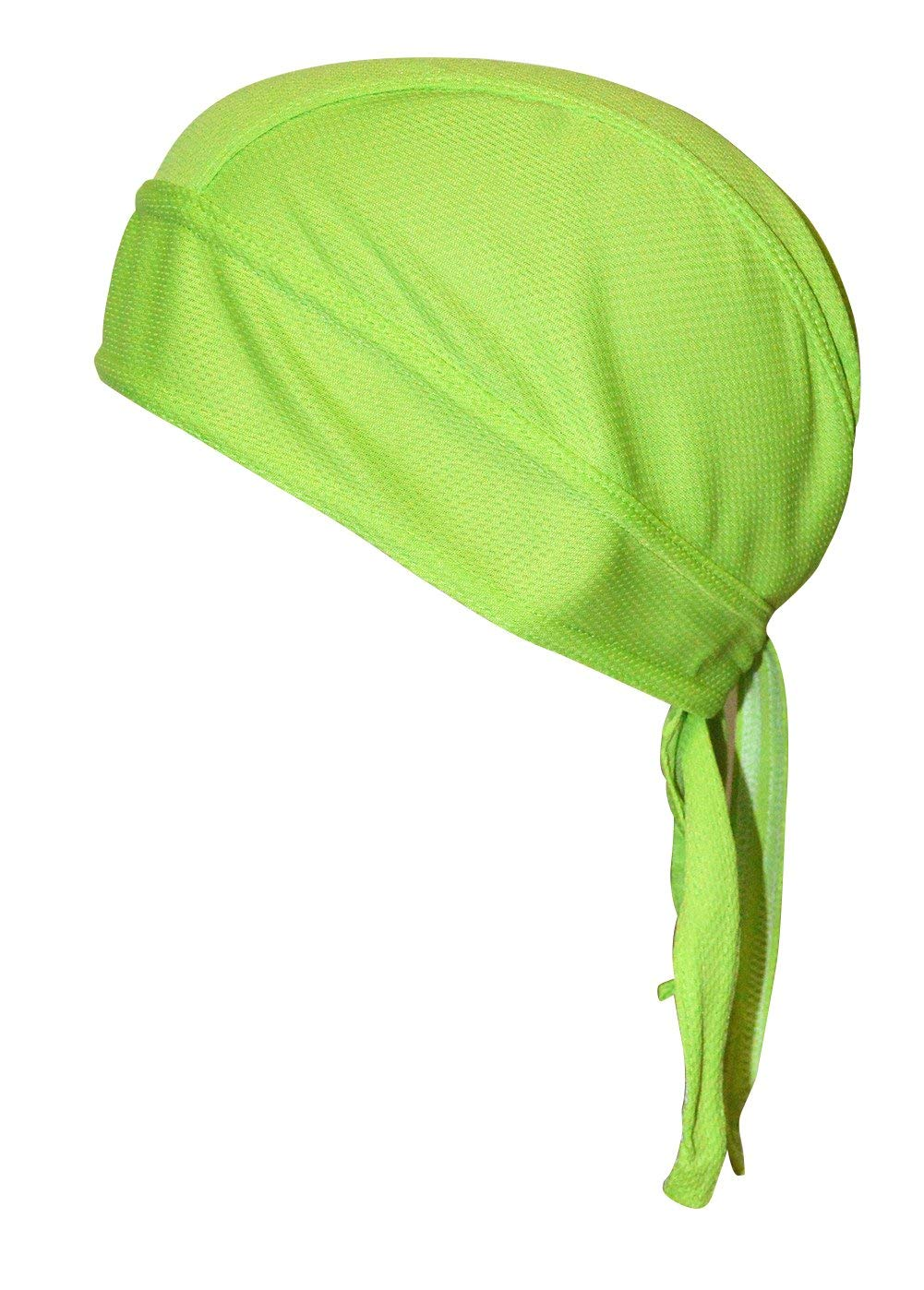 QING Sweat Wicking Beanie Cap Hat Chemo Cap Skull Cap for Men and Women (Fluorescent Green 1 Pack) by QING