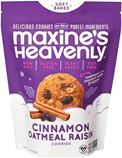 product image for Maxine's Heavenly - Plant Based, Gluten Free, Low Sugar - Cinnamon Oatmeal Raisin Cookies (1 pack)