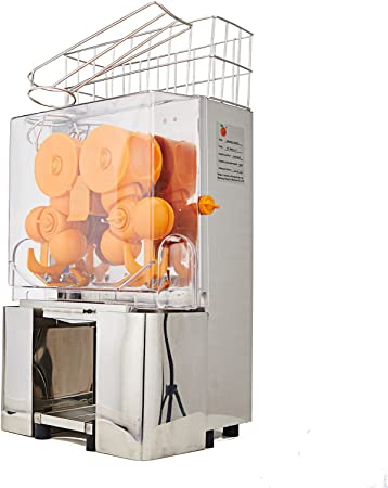 Opinión sobre Moracle Juicer Licuadora para Fruta 120W Licuadora Exprimidor Comercial Exprimidor de Naranja Eléctrico 22-30 Oranges Centrifugar Juice Juicer Comercial Juice Licuadora de Zumos Automático