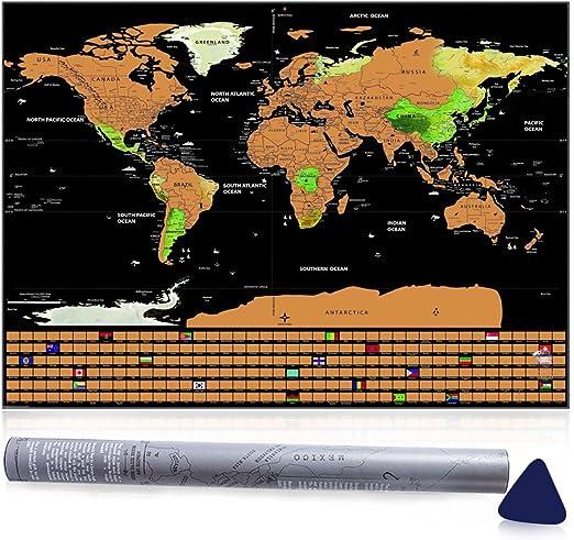 Mapa para Rascar, Mopalwin Mapa del Mundo lujo Edición de Viaje Rascable Pasión de viajar, Ideal Personalizado Diario Iniciar Sesión Regalo(82.5*59.3cm): Amazon.es: Hogar