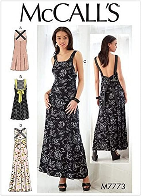 Pinafores AX5 4-6-8-10-12 McCalls Sewing Pattern 7831 Dresses