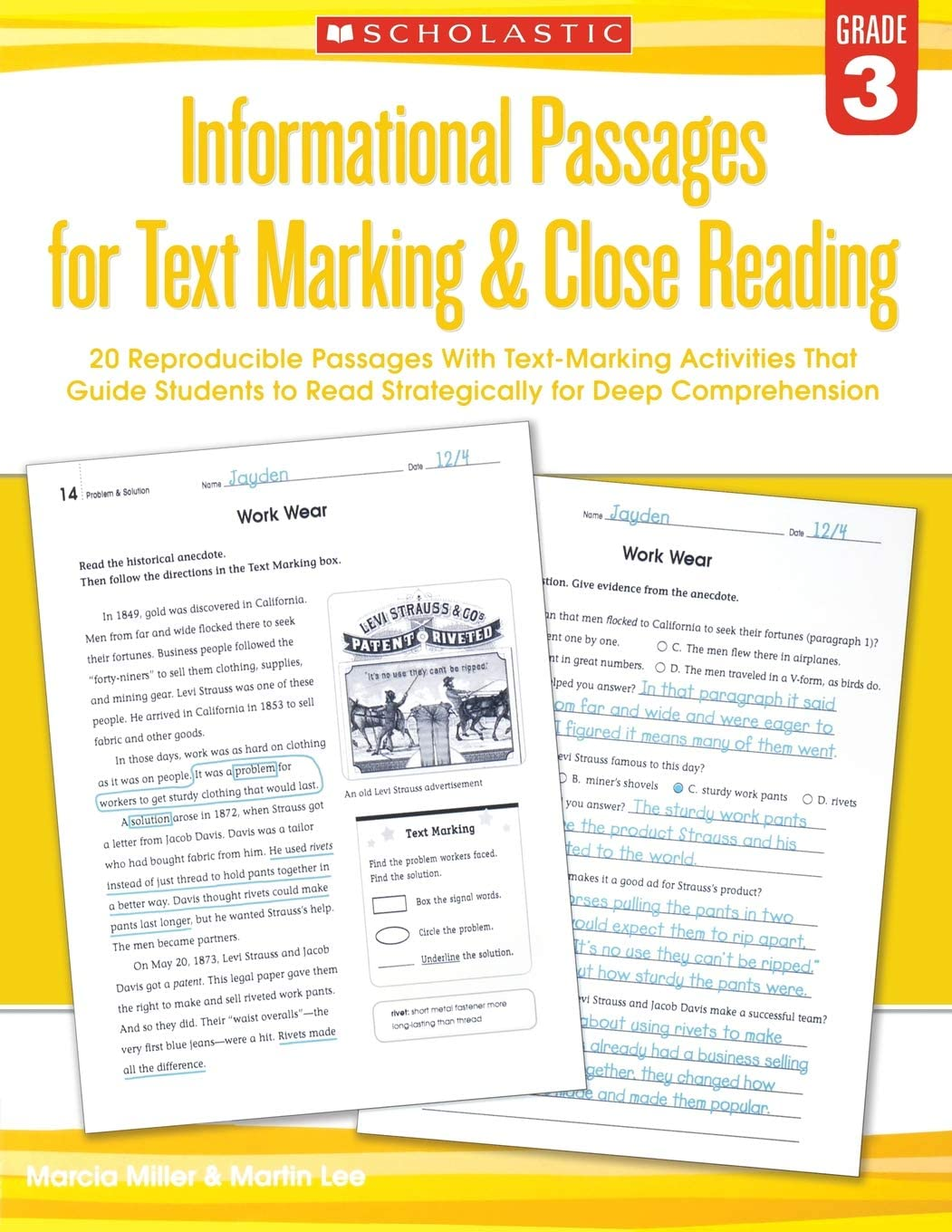 - Informational Passages For Text Marking & Close Reading: Grade 3