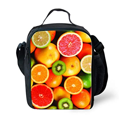 28d672e4c91e LedBack Cute Fruit Lemon Print Lunch Bag Girls Boys School Lunch Box ...
