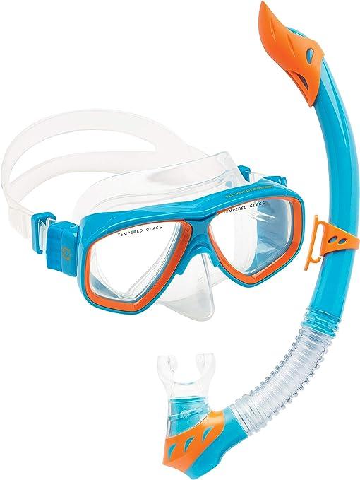 AQTECKNO Childrens Snorkel Mask Set Kid Boy Girl Snorkeling Set Swimming Goggle Diving Mask