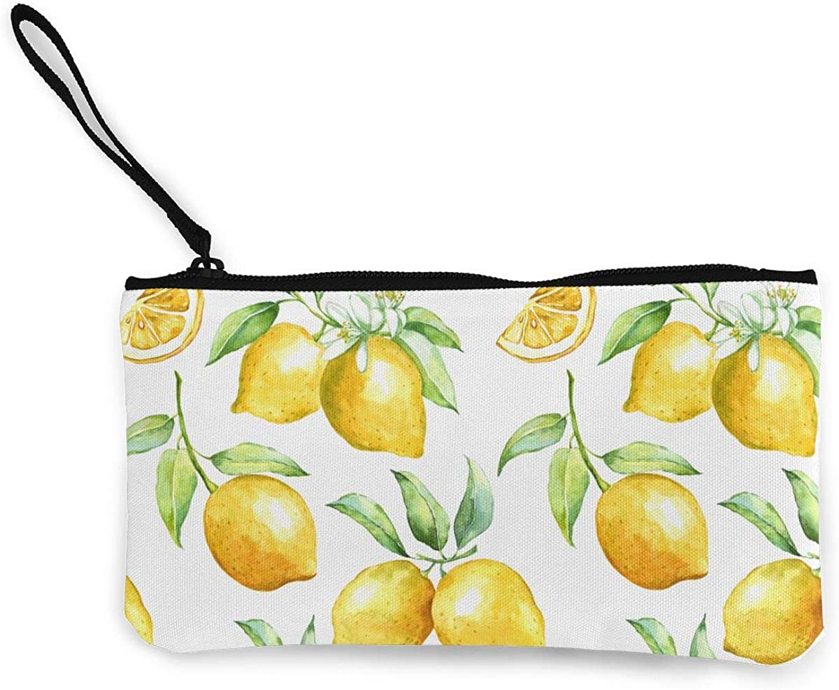 Yellow Lovely Lemon Fruit Vintage Pouch Girl Kiss-lock Change Purse Wallets Buckle Leather Coin Purses Key Woman Printed
