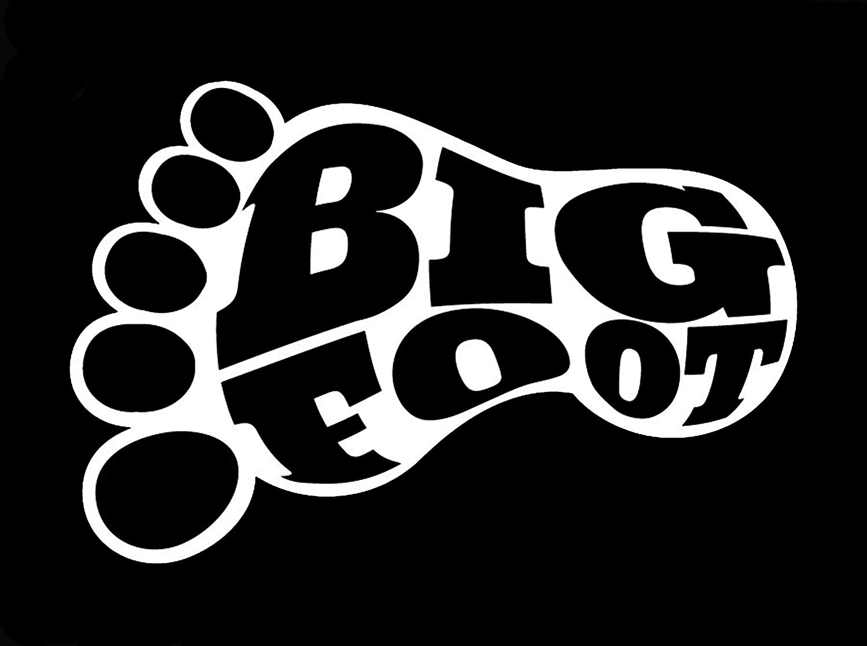 Bigfoot Decal White Choose Size