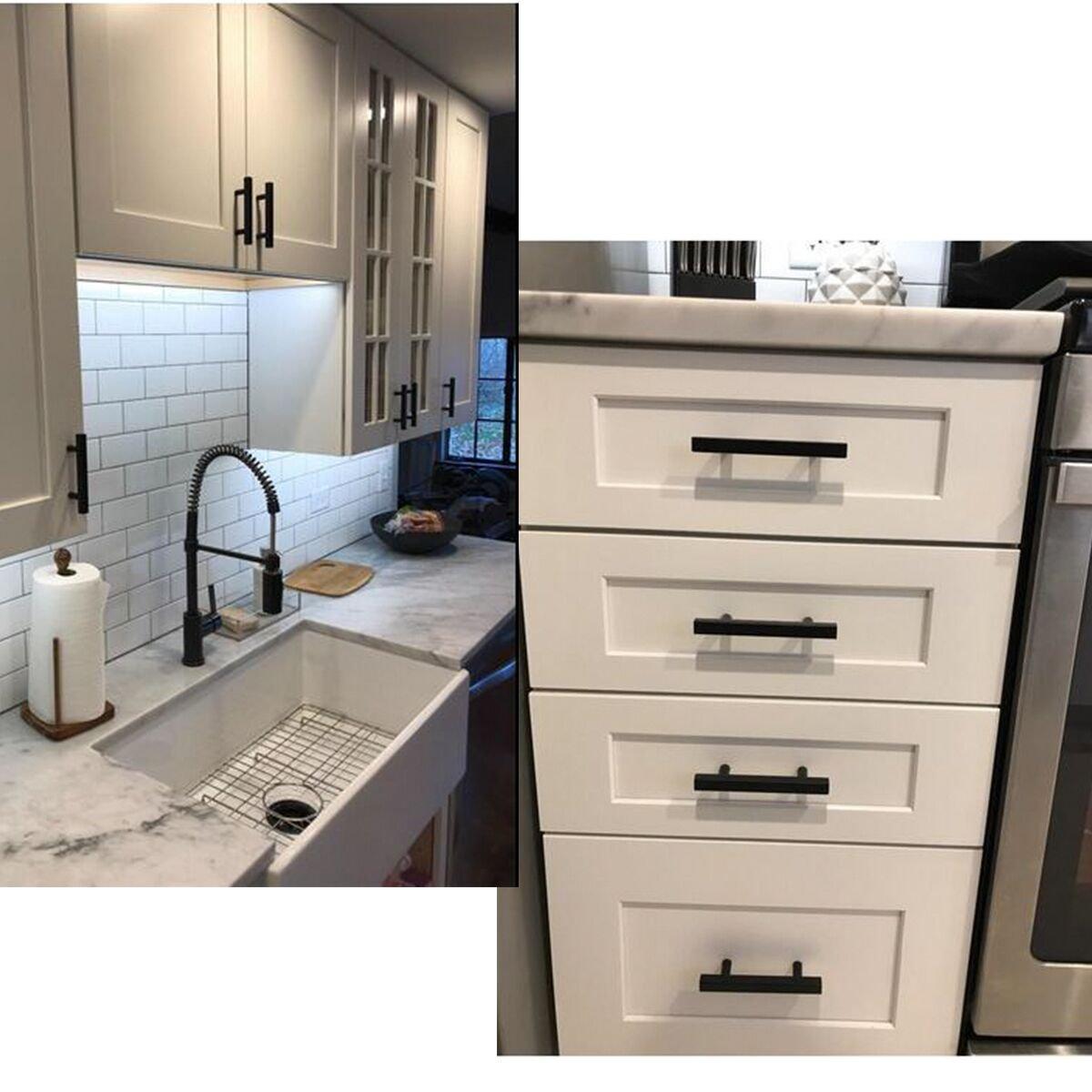 Schwarz Schrank zieht Küche Hardware Schublade zieht Knöpfe ...