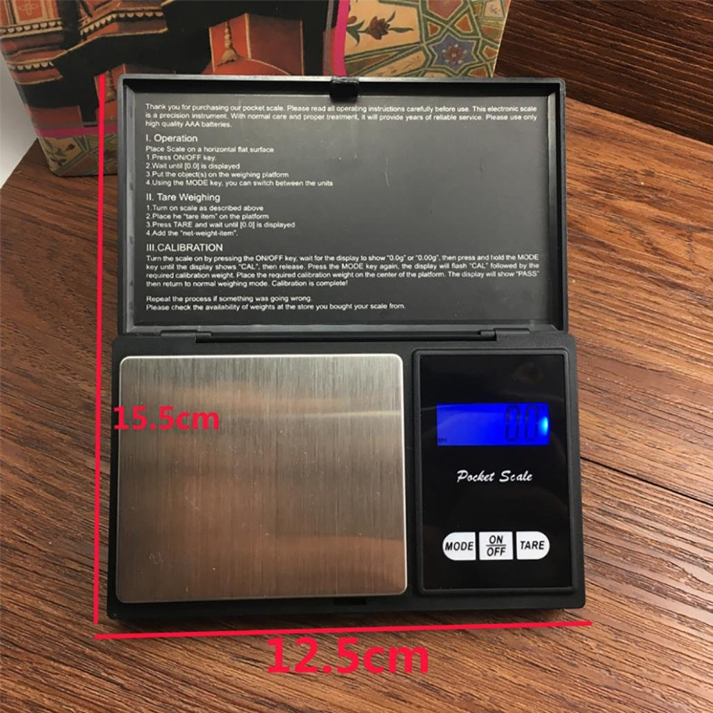 Vovomay - Báscula digital de precisión de 500 g, para joyas doradas 0.01: Amazon.es: Hogar