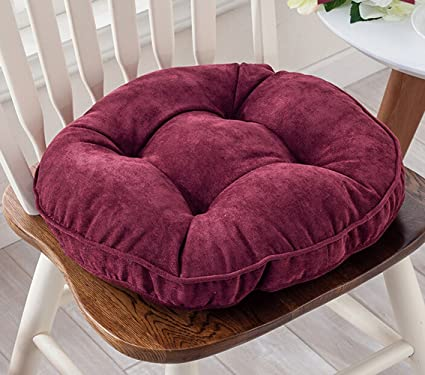 Thicken Round Seat Cushions Sofa Chair Pillow Cushion Chair Pads (red Wine)