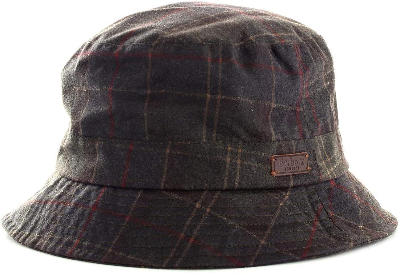 Barbour - Sombrero Bucket Verde de algodón Encerado para Hombre ...