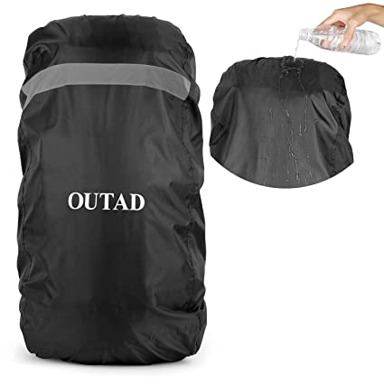 3dd54979a9 Amazon.com   OUTAD Waterproof Backpack Rain Cover With Reflective Strip    Sports   Outdoors