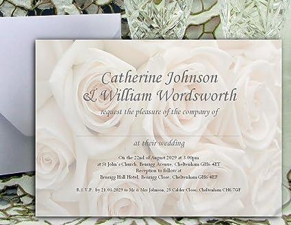 50 Personalised Wedding Invitations//Cards