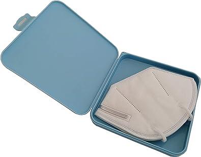 LCQI Porta Mascarillas Caja Estuche Almacenamiento Bolsa Portátil Guardar Plástico (Azul): Amazon.es: Joyería