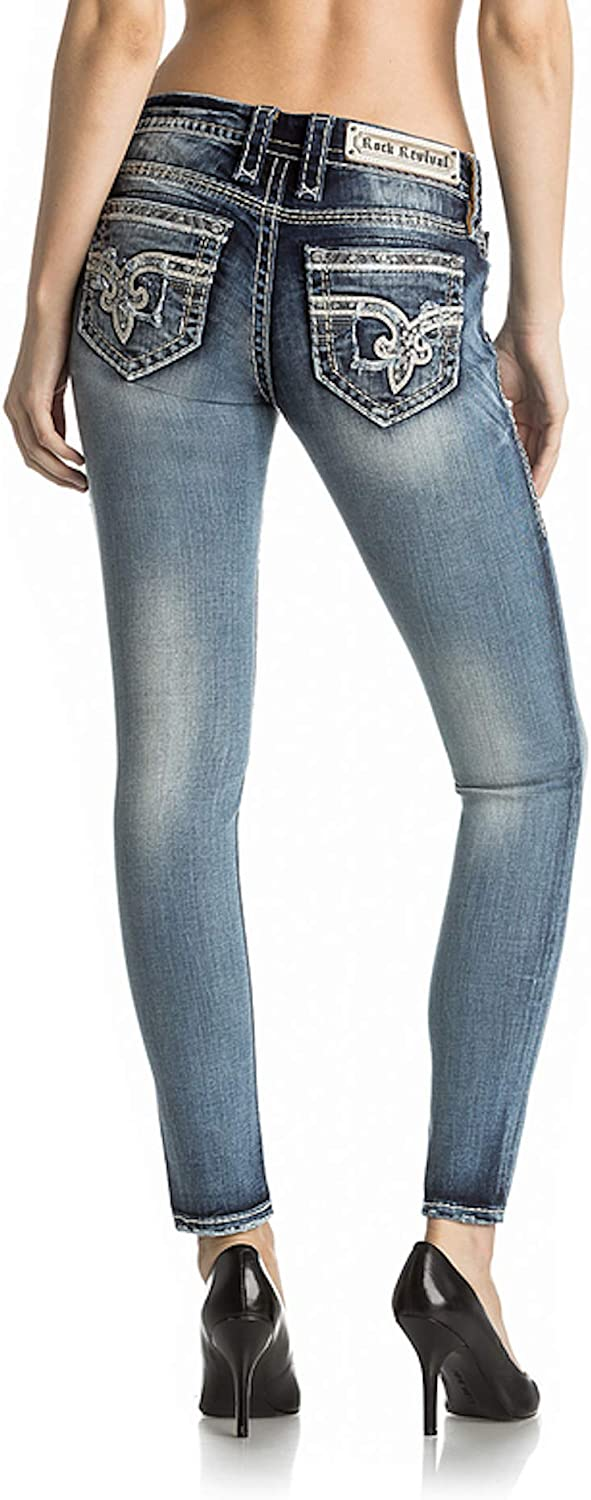Rock Revival Sherry S209 Skinny Cut Jeans (28) at Amazon